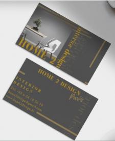 Визитка для фр марки HOME2DESIGN