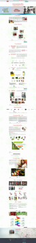 Лендинг сайта по продаже франшизы с растениями