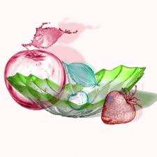 сделать стеклянные фрукты прозрачными
