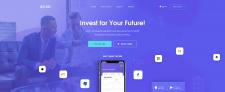 Дизайн для сервиса по инвестированию