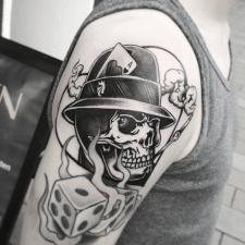 тату череп tattoo skull