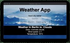 Приложение для просмотра погоды