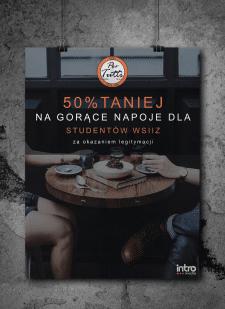 Рекламный плакат для пиццерии Pertutti
