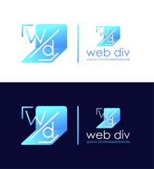 Логотип школы программирования Web div