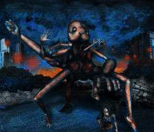 surrealistic monster