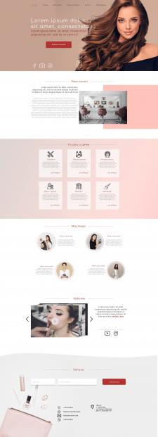 Концепт дизайна для салона красоты