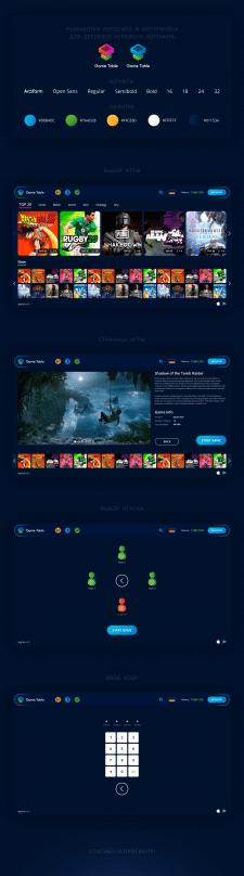 Лого и интерфейс для детского игрового автомата
