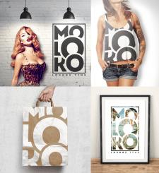 логотип и фирменный стиль для MOLOKO