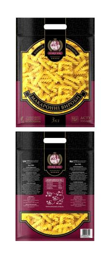 Дизайн 3кг упаковки для макарон Ольвия микс