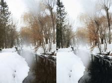 Пейзаж, цветокоррекция и ретушь