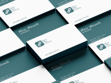 "Business cards for the ""APF"" brand"