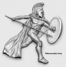 Гладиатор (барельеф для ЧПУ) №2
