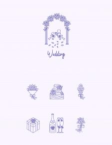 Свадебные иконки.