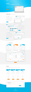 Дизайн онлайн сервиса и промо страницы
