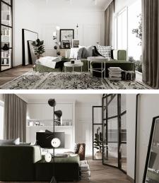 2х комнатная квартира в скандинавском стиле