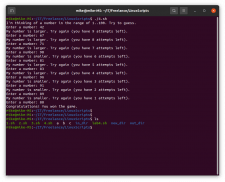 Linux script-game