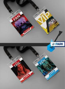 Бейджи для фестиваля музыки U-Park (3 фан. и VIP)