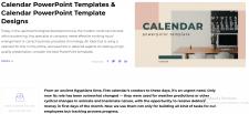 Calendar PowerPoint Templates. Calendar PowerPoint