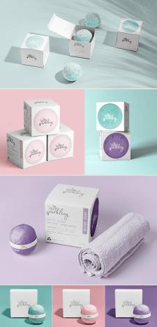 Дизайн упаковки бомбочек для ванн
