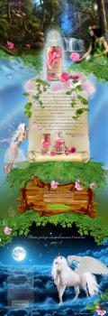 Дизайн сайта сказки про розовую воду мини  лендинг