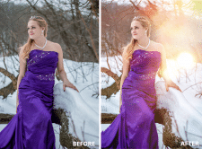 Пластика и добавление световых текстур на фото