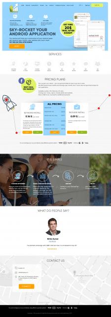 Сайт под ключ - Сайт приложения