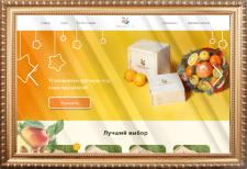 Вёрстка главной страницы магазина фруктов BonFruit