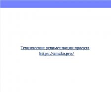 Технические рекомендации проекта amzko.pro
