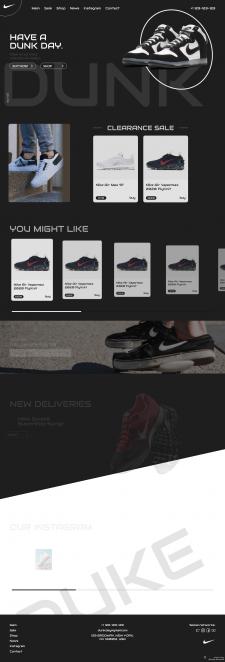 Дизайн и верстка сайта для зарубежного заказчика.