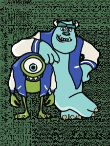 отрисовка в векторе. персонажи из мультика