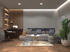 Дизайн гостиной комнаты в  стиле контемпорари