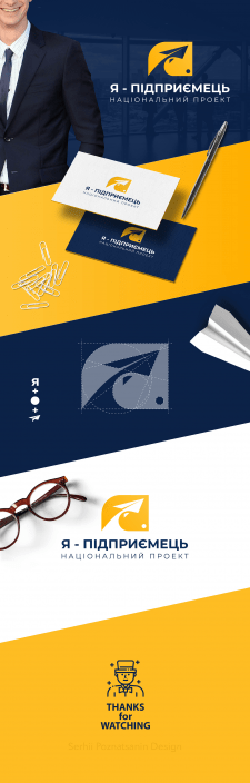 """Сorporate brand identity for """"I'm—a businessman"""""""