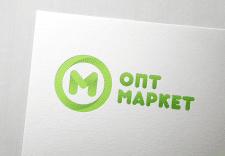 """Логотип сети магазинов """"ОПТ маркет"""""""