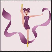 Персонаж гимнастки