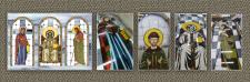 Наливные витражи-иконы для храма