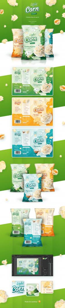 """Дизайн упаковки для попкорна """"Light Corn"""""""