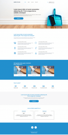 Сайт визитка для клининг сервиса