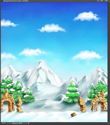 фон для игры фейсбук, горы, первый и 2й план