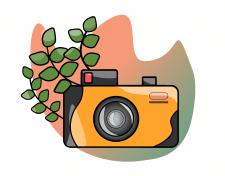 векторный фотоаппарат