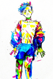 Рисунок персонажа на бумаге