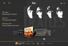 Дизайн главного экрана дискографии The Beatles