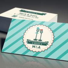 Дизайн визитки для ведущих праздников