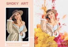 Smoky art (Дымный арт) портрет в разноцветном дыму