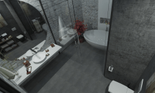 Bathroom loft
