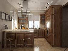 Кухня в большом доме