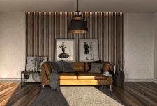 3D визуализация гостинной