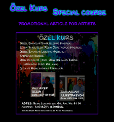 Promotional article for artists