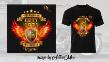 Дизайн футболки на юбилей