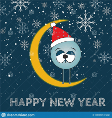 """Прикольная иллюстрация """"С Новым Годом"""""""