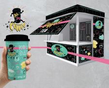дизайн для уличной кофейни